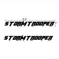 coole lustige autoabziehbilder aufkleber großhandel-Lustige Storm Trooper Vinyl Aufkleber Auto Truck Fenster Aufkleber für Autotür Stoßstange hübsch und coole Aufkleber
