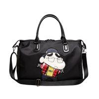 padrões de bolsas de pano venda por atacado-Hipster dos desenhos animados bolsa de viagem dos desenhos animados Padrão Shoulder Cross-corpo Bolsa Oxford Cloth Dacron armazenamento Travel Bag