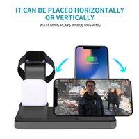 зарядное устройство для док-станции оптовых-Q12 Модель 3 в 1 QI Wireless зарядное устройство Стенд для компании Apple Watch 2345 Series AirPods iPhone 7 8 Plus XS Max XR 11 Pro Быстрый беспроводной зарядной базы