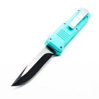 Wholesale self defense lights for sale - Group buy 7 models Butterfly small C07 light blue inch double action tactical self defense folding edc knife automatic knife automatic knives
