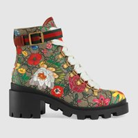 Wholesale boots large sizes for sale - Group buy Top branded Flora women ankle boot Genuine Leather high quality Large size ladies Martin boots With the box