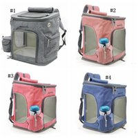 Wholesale dog handbags carriers resale online - Pet Dog Carrier Backpack Foldable Mesh Breathable Carrier Outdoor Travel Shoulder Bags for Small Puggy Cats Chihuahua Pet Handbag MMA1114 p