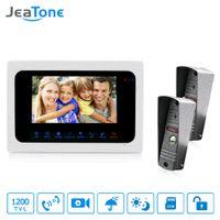 sistemas de grabación de seguridad al por mayor-JeaTone 7 pulgadas Video Timbre de la puerta Intercomunicador Teléfono de la puerta HD 1200TVL Cámara de visión nocturna Imagen de grabación de video Sistema de seguridad para el hogar
