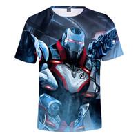 3d basım makinesi toptan satış-Yeni Tasarım 3D Baskılı Serin Kısa Kollu tişört Endgame Savaşı Makinesi T-Shirt Erkekler Streetwear