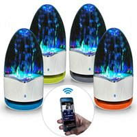 Wholesale colorful water speakers resale online - ireless Bluetooth Speakers TF mm Colorful Light Bluetooth LED Music Fountain Water Dancing Speakers for Phone Computer