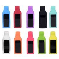 lastik bant bilezikler klipsler toptan satış-Fitbit Ace Klip Toka Yumuşak Silikon Kauçuk Kemer Klip Fitbit Için Yedek Kapak Kılıf Tutucu Alta / İK Akıllı Bant Bilezik