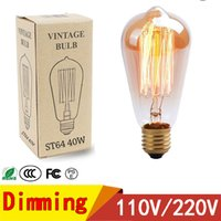 glühbirne e26 e27 großhandel-Edison LED Birnen 110V 220V E27 E26 40W Vintage Lampe LED Glühlampe für Inneneinrichtungen
