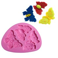 Wholesale butterfly cookies resale online - 1pc Cute Butterfly Silicone Mold Animal Shape DIY Chocolate Mold Cookie Fondant Mould for Cake Decorating Baking Tools