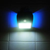 bewegung aktiviert außenwand licht großhandel-Solar Outdoor Wasserdichte Wandleuchte IP65 24LED 7 Watt Wireless PIR Bewegungsmelder Licht Menschlicher Körper Induktion Schwarz Weiß Silber Gold