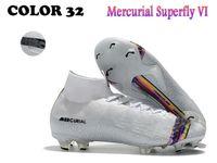 sapatos ronaldo frete grátis venda por atacado-Novo estilo Mercurial Superfly VI 360 Elite FG SG 6 XII 12 CR7 Ronaldo Neymar Dos Homens Das Mulheres de Alta Sapatos de Futebol Chuteiras Botas Frete Grátis