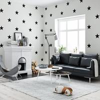 mittelmeer-tapete großhandel-Tapete für Kinderzimmer im nordischen mediterranen Stil Boy Cartoon Bedroom Stars Wallpapers