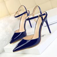 ouro sandálias de salto alto sandálias venda por atacado-Hot Sale-sapatos de salto alto slingback escritório sapatos de mulheres sapatos de noite zapatos fiesta mujer elegante saltos de ouro sandálias de verão sapatos de mulher