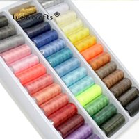 Lucia crafts 39 Colors Reels Polyester Sewing Threads Yarn Hand Embroidery Sewing Thread Spools Craft 39pcs set W0310