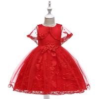 kindergeburtstag kleid designs großhandel-MQATZ Mädchen Prinzessin Kleid Sommer Tutu Hochzeit Geburtstagsfeier Kinder Kleider Für Mädchen Kinder Kostüm Teenager Prom Designs