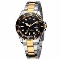 ingrosso orologio da polso al quarzo-2019 Rolex Famous design Fashion Men Big Watch Oro argento acciaio inossidabile di alta qualità maschile orologi al quarzo uomo orologio da polso business classil orologio