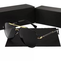 siyah gölgelendirme toptan satış-PORSCHE DESIGN 8755 Kare Pilot Güneş Gözlüğü Altın Siyah / Gri Tonları Sonnenbrille Açık Tonları Tasarımcı Güneş Gözlüğü Gözlük Yaz gafa de ...