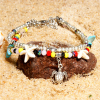 Wholesale star shaped charms for sale - Group buy 4 Styles Fashion Anklet Starfish Star Shaped Charm Anklet Bracelet Beach Foot Anklets For Girls Birthday Gifts Jewelry Free DHL M127Y