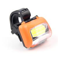 Wholesale adjustable bright lamp resale online - Super Bright COB Bicycle Lamp Outdoor Camping Lanterna Emergency Adjustable Headlamp Orange Useful Bike Clip ABS Plastic yh O1
