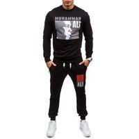pantalon de sport achat en gros de-Sweat à capuche de concepteur pour hommes blanc manteau de survêtement pull vestes costumes champion de boxe impression pull Wei pantalon de sport