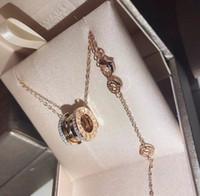 Wholesale sapphire pendant 18k resale online - The new glamour fashion jewelry wild goddess for women swarovski sterling silver necklace woman locket