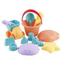 Wholesale beach toys plastic shovel resale online - Summer Children s soft plastic beach toys Castle Bucket Spade Shovel Rake sand bucket shovel play sand tools