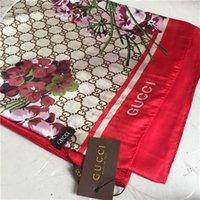 Wholesale silk beach towel resale online - classic brand printed silk scarves soft thin silk shawls fashionable women s beach towels