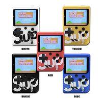 consolas de video al por mayor-SUP Mini Consola de Juegos Portátil Retro Consola de Videojuegos Portátil Puede Almacenar 400 Juegos 8 Bits 3.0 Pulgadas Colorido Diseño de Cuna LCD