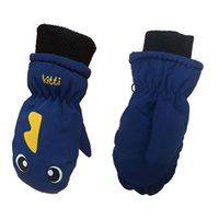 ingrosso guanti carino ragazzi-Guanti da sci per bambini in velluto Plus. Guanti da montagna impermeabili antivento impermeabili per bambini di 3-5 anni