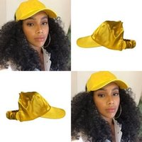 Wholesale bun braid for sale - Group buy Women s ponytail baseball cap Half empty top Visor Messy Bun Natural Hair Hats Afro Curly Hair Backless hat A6589
