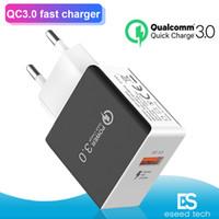 ingrosso caricabatteria 9v 2a-QC 3.0 Fast Charger parete adattatore USB Quick Charger 5V 3A 9V 2A di potere di ricarica rapida Plug Adapter US UE per l'iPhone 7 8 X Samsung