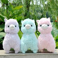 35cm 45cm Japanese Alpacasso Soft Plush Toys Doll Giant Stuffed Animals Lama Toys Kawaii Alpaca Plush Doll Kids Birthday Gift T191019