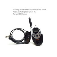 Wholesale pet trainer shock collar for sale - Group buy Waterproof Rechargeable Dog Trainer No Barking Remote Electric Shock Vibration Remote Pet Dog Training Collar Control For Dogs Dog Trainin