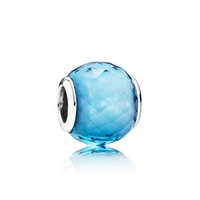 Wholesale rubies stones beads for sale - Group buy NEW Sterling Silver Glamour NBS Sky Blue Charm Glass Bead Original Women Wedding Fashion Jewelry Gift
