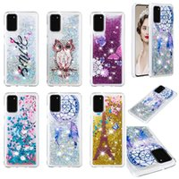 Wholesale eiffel tower cases for sale – best Eiffel Tower Quicksand Glitter Liquid TPU Case For Samsung S20 Plus Ultra A01 A21 A51 A71 A81 A91 A10 A20 A30 A50 A70 A10S A20S M20 M30 M40