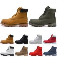 botas de color rojo al por mayor-TimberlandBotas de mujeres de los hombres de lujo de botas de castaño de Stiefel mens de la manera roja Martin botas para hombre Bota de la nieve 36-45