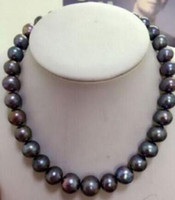 Wholesale pendants lovely pearl resale online - gt gt gt gt noble jewelry lovely mm natural freshwater black gray pearl necklace K brooch