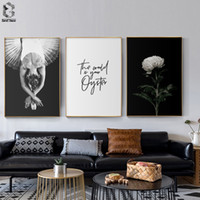 Wholesale wall poster for girls resale online - Posters And Prints Canvas Flower Quotes Painting Wall Art Black White Ballet Girl Pictures For Living Room Nordic Decoration
