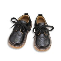 meninas sapatos de couro genuíno escola venda por atacado-Meninas Sapatos de Couro Genuíno Sapatilhas Criança 2019 Primavera Outono Crianças Meninos Sapatos Da Escola Do Bebê Meninas Sapatos Crianças Tênis De Casamento