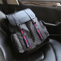 Wholesale men shoulder bag trend resale online - genuine leather double shoulder bags top brand backpack for men and women excellent quality school bags new trend