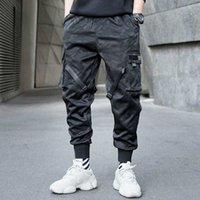 jogger schweißhose großhandel-Männer Ribbons Farben-Block-Tarnung Tasche Cargo Pants 2019 Harem Joggers Harajuku Sweatpant Hip Hop Hose