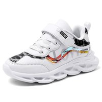 Wholesale girls kids sports resale online - Kid Sport Shoes Comfortable Outdoor School Student Running Shoes Leather Waterproff Pink Sneakers For Girls Runner Athletic Shoe