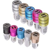 Wholesale car charger for sale - Universal NOKOKO Car Charger A A Dual usb ports Metal Alloy Car chargers for iphone x samsung s8 s9 htc android phone pc mp3 gps