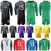 Wholesale blanco shirt for sale - Group buy Goalkeeper Mexico Long Sleeve Guillermo Ochoa Soccer Jersey Set Jose de Jesus Corona BORGETTI BLANCO Football Shirt Kits Uniform
