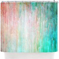 knickentenblaue farbe großhandel-Iris Lehnhardt; Color Wash Teal; Türkisblauer Duschvorhang,