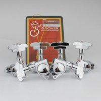 Wholesale tune machine resale online - New Antique Grover Guitar Machine Heads Tuners Guitar Tuning Pegs R L Set