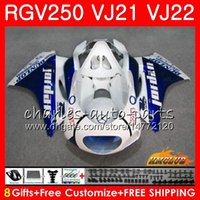 Wholesale fairing 1989 for sale - Group buy Body For SUZUKI RGV250 Frame white blue hot HC RGV VJ21 SAPC RGV VJ22 Fairings
