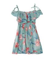 vestidos de gasa por años al por mayor-2019 nuevas niñas flor falda coreana correa de gasa vestido sin tirantes linda falda de playa Adecuado para 3-12 años de edad