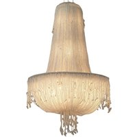 винтажная столовая люстра оптовых-роскошные старинные хрустальные бусины люстра освещение творческий медузы итальянский люстра светильник для спальни столовая