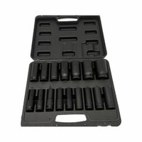 "1 2"" Drive Metric Deep Impact Socket Set 16 Piece 10-32mm in Case Garage High Quality Professionals Tire tool"