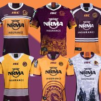 ingrosso rugby uomini pullover-2019 Australia Brisbane Broncos Rugby Jersey Brisbane Broncos Anzac 2019 Uomini Indigenous Maglie Australia NRL Rugby League Jersey